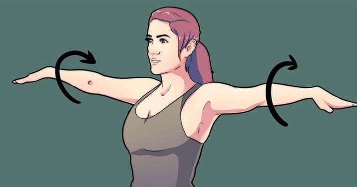 Круговые махи руками: Упражнение, которое следует делать каждый день