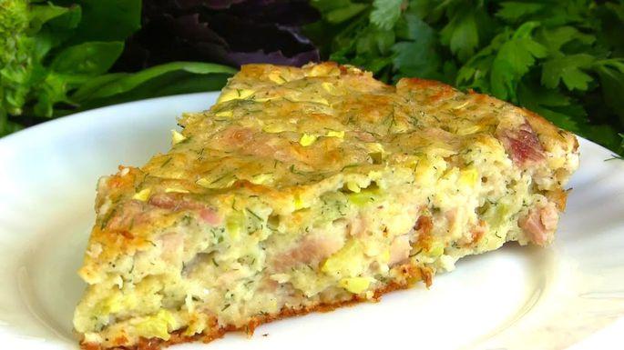 Рецепт ленивого пирога с курицей. Просто и вкусно!