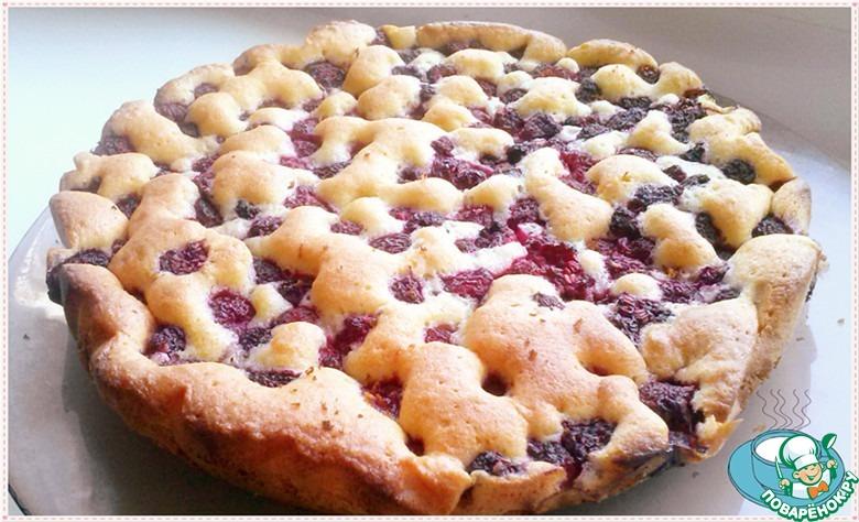 Нежный малиновый пирог