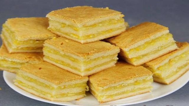 Нежнейшее пирожное с лимонно-апельсиновой начинкой — безумно вкусно!