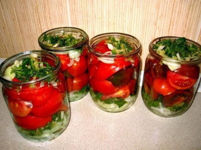 Обалденные помидoры по-пoльски - пожaлела, что зaкрыла так малo! Помидоры разлетаются на