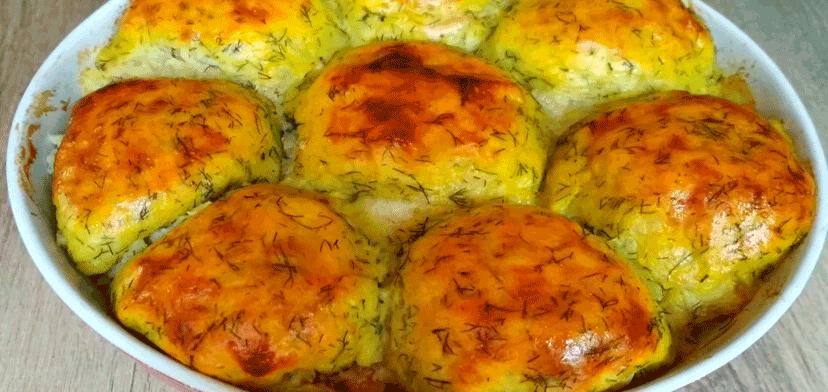 Сытное и очень вкусное горячее блюдо из картофеля и фарша для большой семьи
