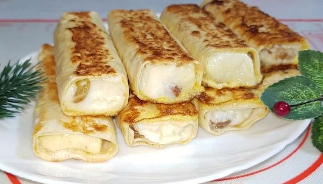 Трубочки из лаваша: завтрак без хлопот за несколько минут.
